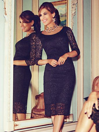 Shop Eva Mendes Collection - Trina Lace Sheath Dress. Find your perfect size online at the best price at New York & Company.