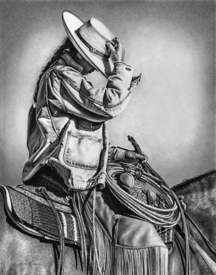 Glynnis Miller, Buckaroo style - Pencil