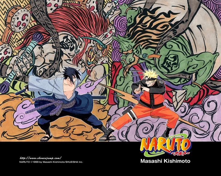 Sasuke vs Naruto (Raijin vs Fujin)   Naruto, Naruto ...