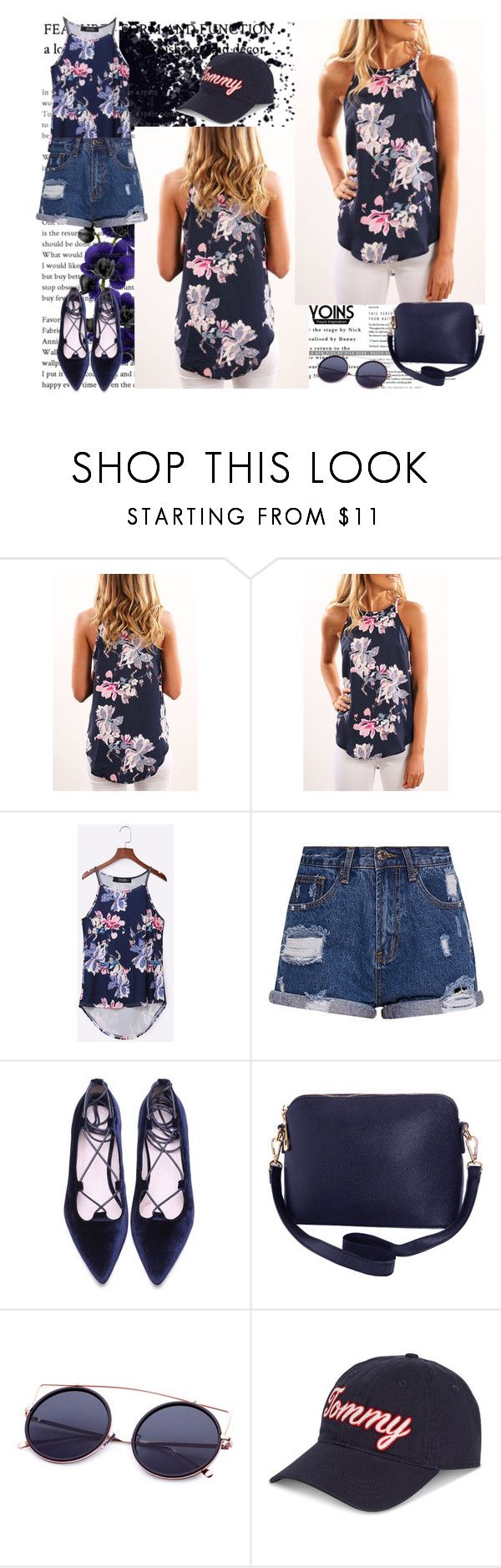 """Random Floral Print Cami Top-Win $20 coupon by Yoins !"" by cooperation ❤ liked on Polyvore featuring Humble Chic and Tommy Hilfiger"