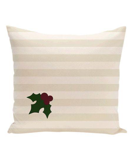 Ivory & Cream Holly Stripe Throw Pillow