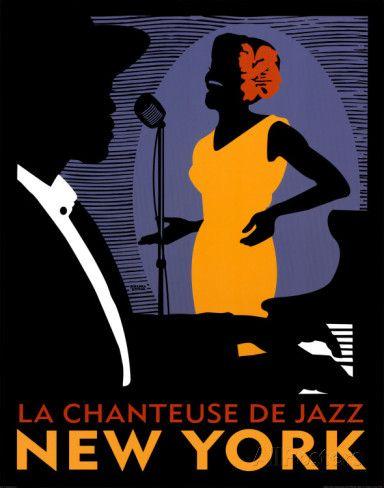La Chanteuse de Jazz Print by Johanna Kriesel at AllPosters.com