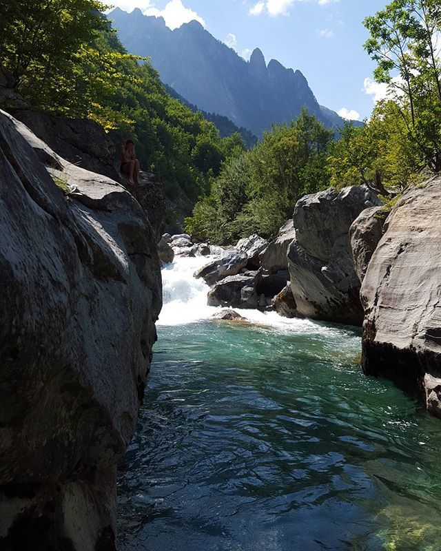 Our favorite place to swim  #valbona #valbone #valbonavillage #river #swim…