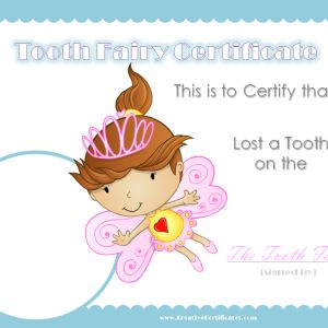 Personalized Tooth Fairy Certificate – 6