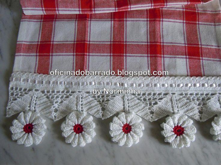 OFICINA DO BARRADO: Croche - Em vermelho & Branco ...