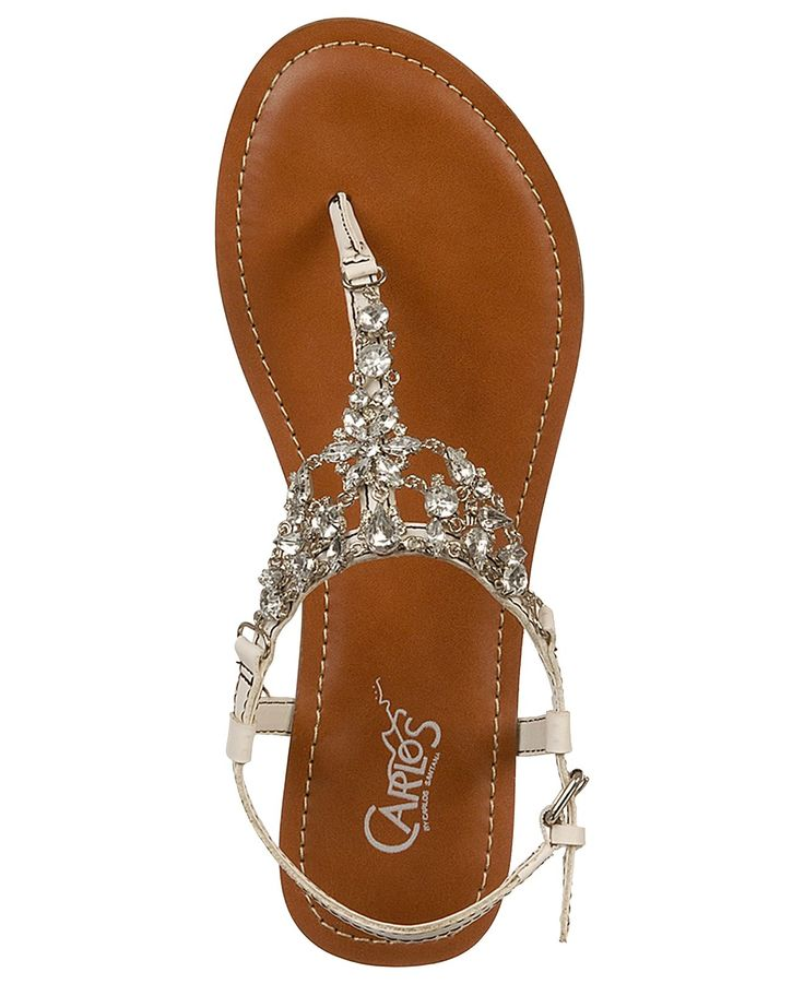 Carlos by Carlos Santana Shoes, Flora Flat Sandals. Pretty sandals! Would be beautiful for a beach wedding!!!!