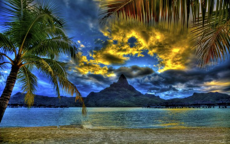 Tropical Island Beach Ambience Sound: Bora Bora Landscape Wallpaper - Bing Images