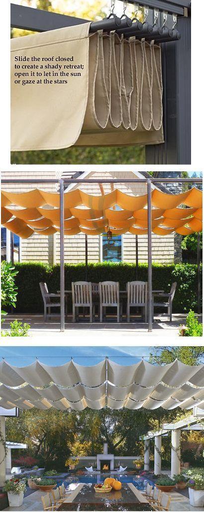 retractable shade cloth design ideas for the rooftop garden: