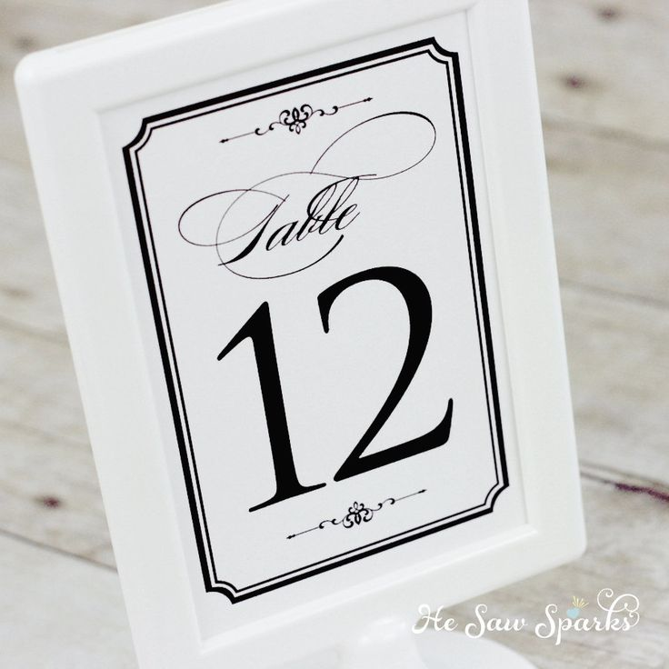 44 best Table numbers suggestions images on Pinterest Table - numbers templates free