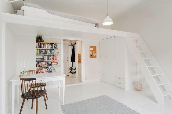 Projet rénovation : mezzanine pour lit d\'appoint | Home and ...