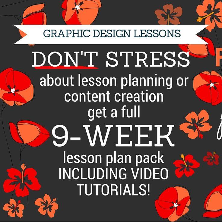 9-weeks graphic design lesson plan