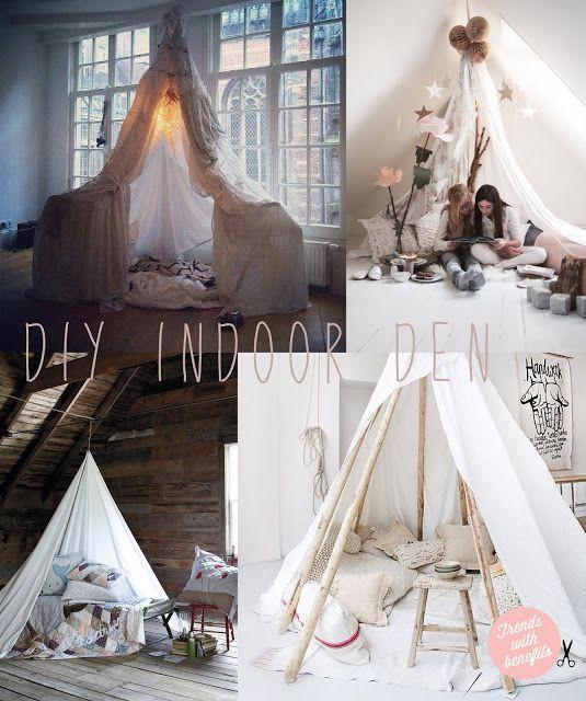 Love this idea! #DIY Indoor tent