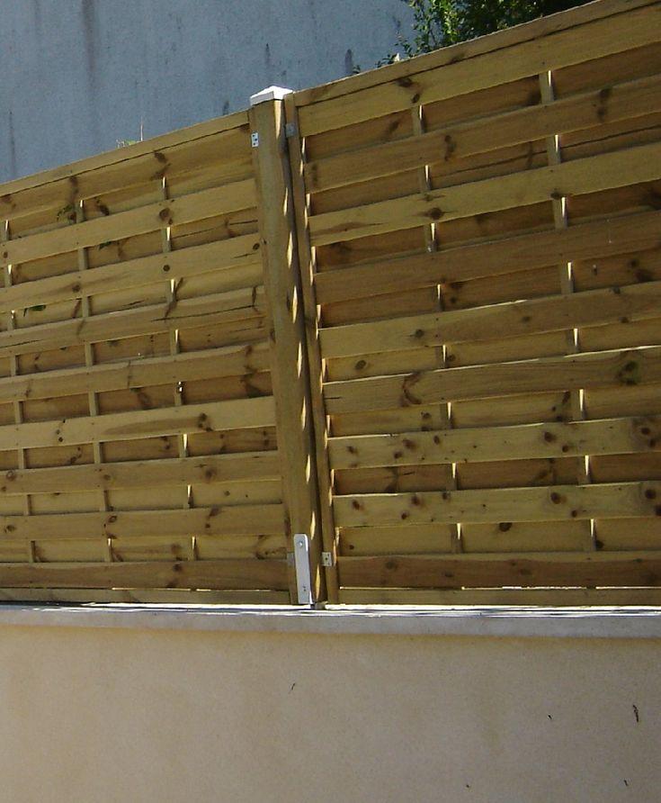 pare vue bois cl ture palissade muret paysagiste 60 oise. Black Bedroom Furniture Sets. Home Design Ideas