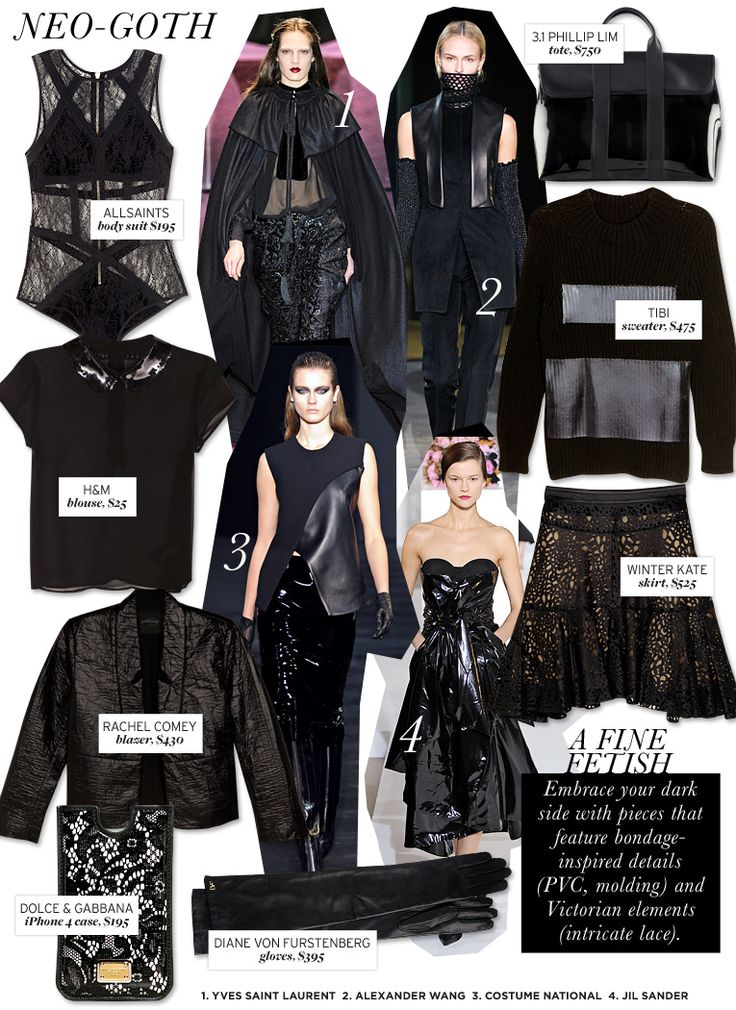 Who What Wear | Fall 2012 Trend Guide | Neo-Goth
