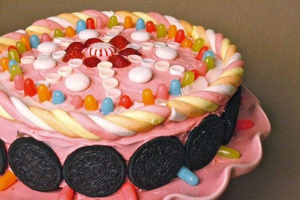 Sugar Rush inspired Cake!! Go see Wreck It Ralph :)