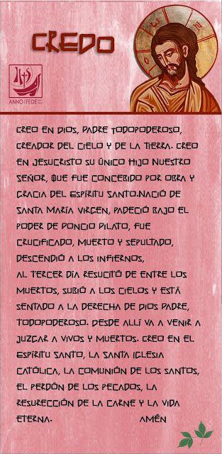 TARJETAS Y ORACIONES CATOLICAS: CREDO DE LOS APÓSTOLES: Español ...