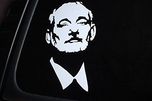 "Bill Murray Face Sticker Vinyl Die Cut Decal Car Bumper Window Choose Size! V302 (6"" x 3.5"", White)"
