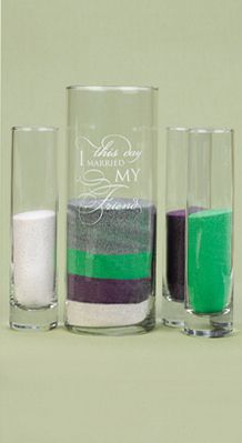 'This Day' Sand Ceremony 4 Piece Cylinder Set for your Wedding Ceremony- Would be cute to do this with the bridesmaids before the wedding!