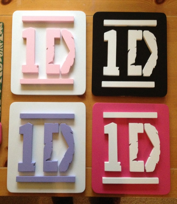 1d One Direction Wall Plaque Hanging Decor One Direction