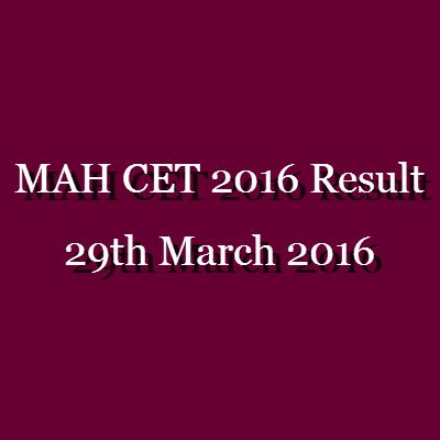 The MAH CET 2016 Result is scheduled to be released on 29 March 2016. http://www.entrancecorner.com/bschool/mah-cet-result/