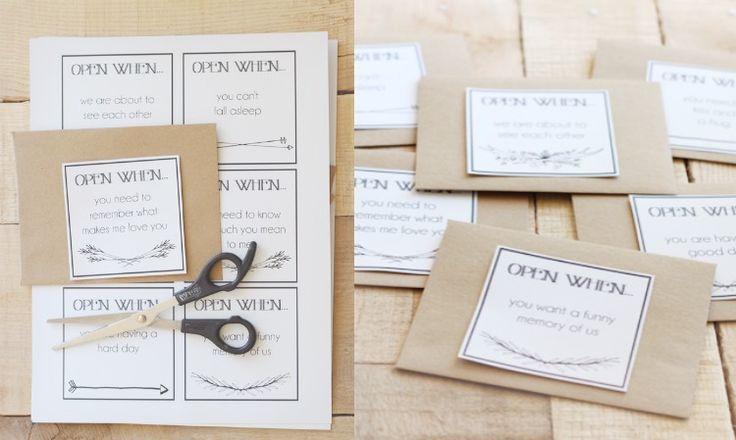 Open when briefe selber machen etikette diy selber for Jahrestag geschenk selber machen