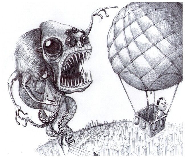 'The Balloon'. Illustration by Chris Harrendence