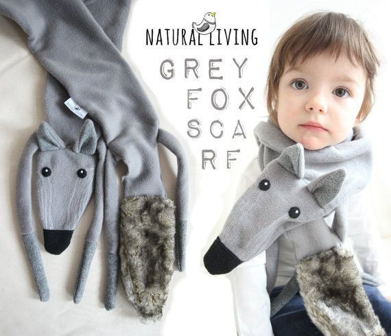 GREY FOX SCARF beautiful polar fox!