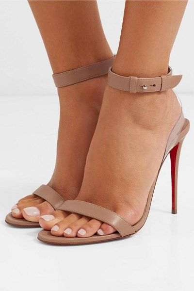 224a6cdf64c6 Christian Louboutin jonatina pvc-trimmed leather sandals.   christianlouboutin  nudeshoes  sandals