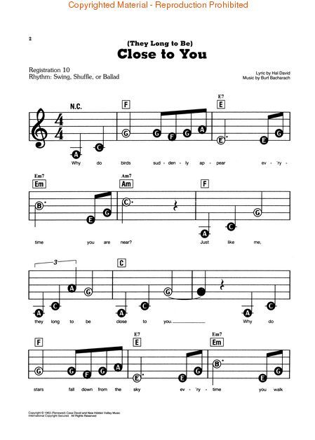 Piano Sheet Music for Beginners | Beginner PIANO Sheet Music, Scores, Partituras - WEDDING - LOVE ...