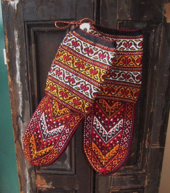Handcrafted socks/slippers made in Turkmenistan by heydarlin, $25.00