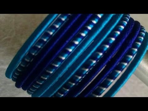 Kalar-6|| DIY silk thread jewelry.3 colours silk thread wrapping at a time.casual wear bangles