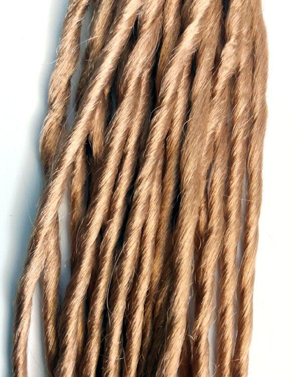 Light Golden Brown Synthetic Dreadlocks