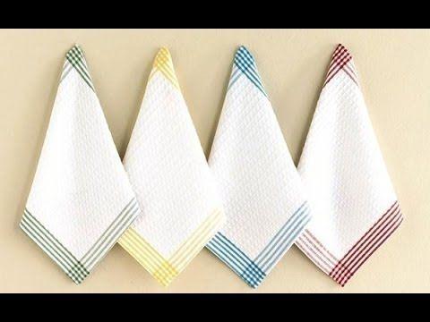 Как очистить кухонные полотенца от пятен