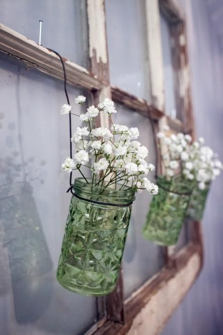 Use Glass Jars for Inexpensive Vases