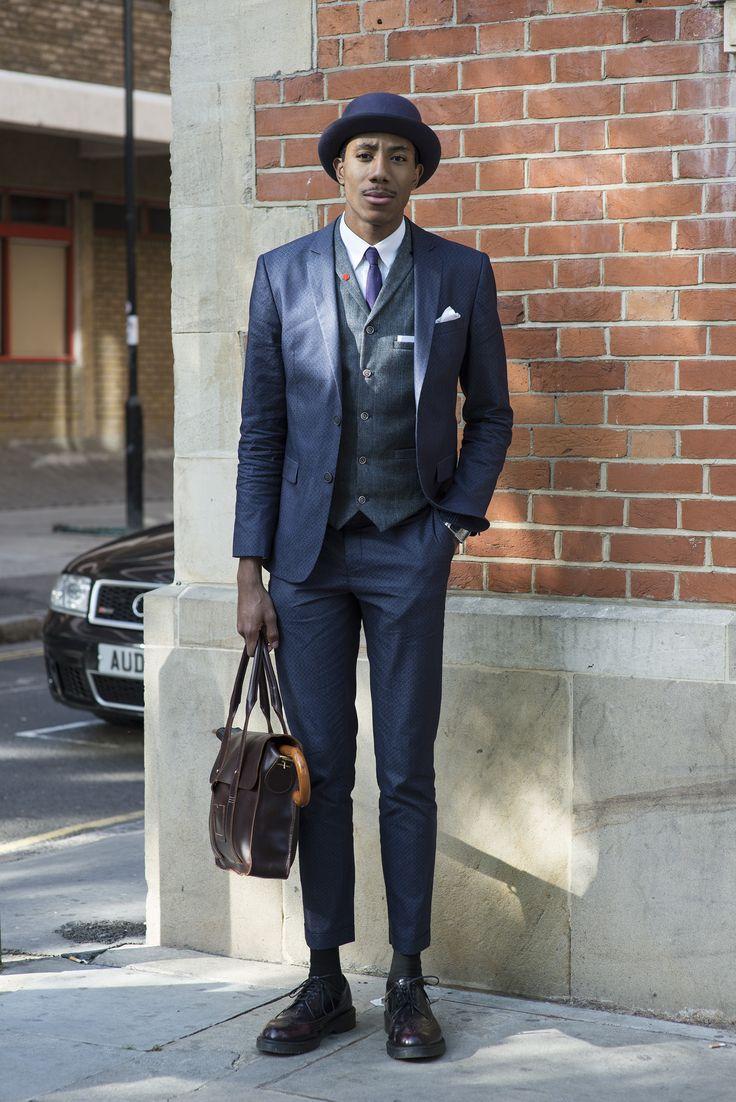 River Island Suit, Topman Tie, Dr. Martens Shoes & Bag