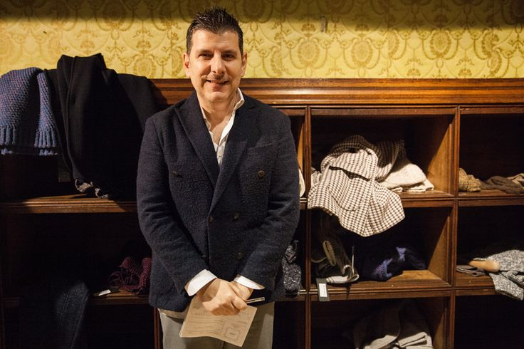 Alfredo Argirò of Gray, a knitwear brand specializing in innovative materials blended with more traditional silhouettes.