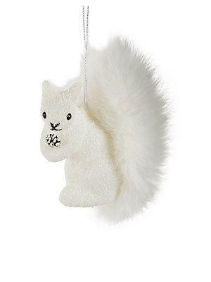 Lord & Taylor Fur Tail Squirrel Ornament