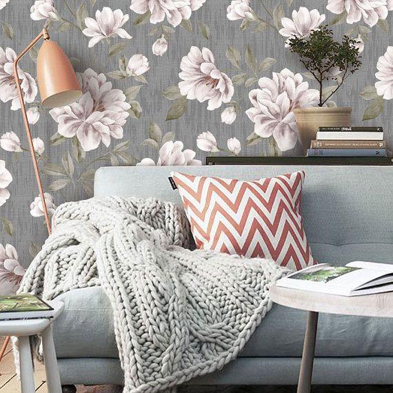 vintage floral peel u0026 stick fabric by wallplays