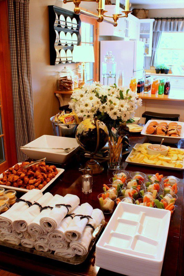 Set up a Buffet Table | 11 Graduation Party Ideas To Celebrate The Big Day