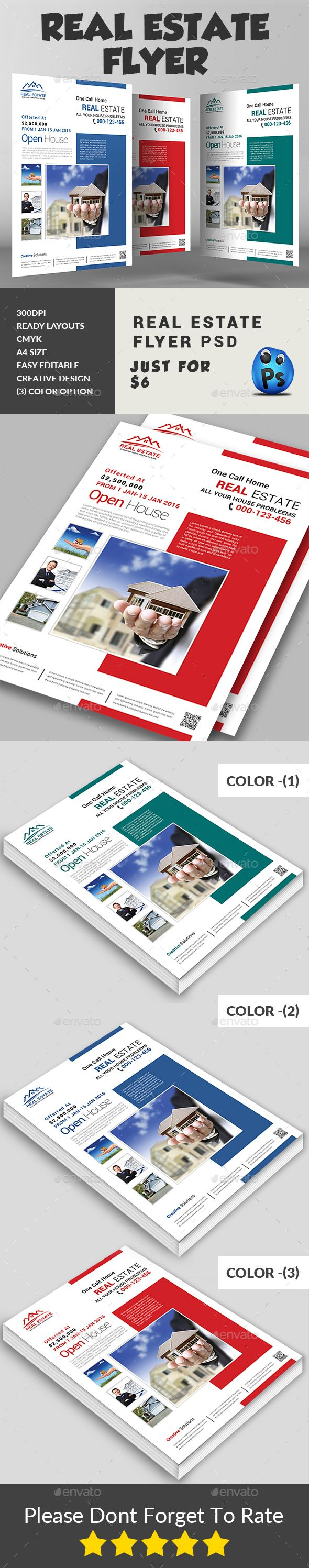 #Real Estate Flyer – Corporate Flyers Download here: graphicriver.net/…