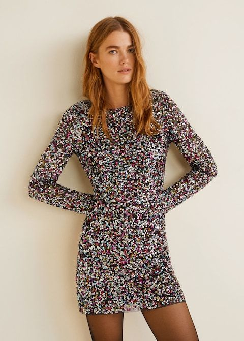 f46f970216f Sukienka z cekinami i dekoltem na plecach - Sukienki dla Kobieta ...