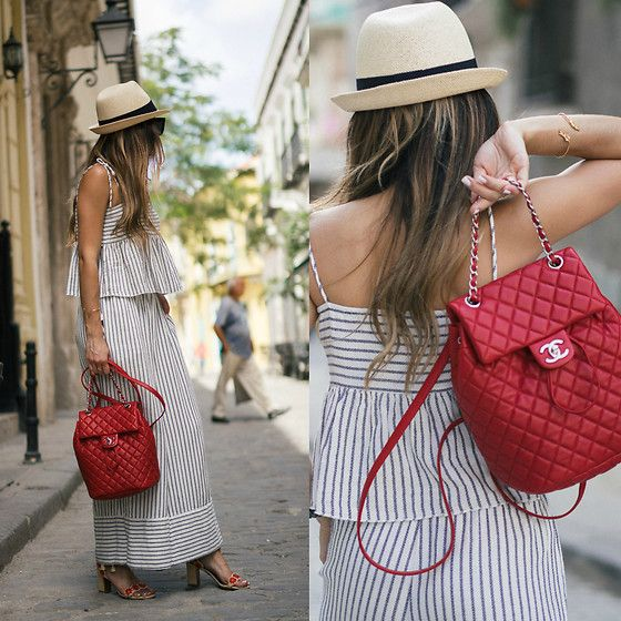 Red Chanel Backpack