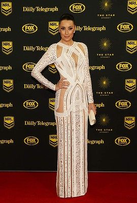 #TerryBiviano arrives at the Dally M Awards at Star City on September 29, 2014 in Sydney, Australia.