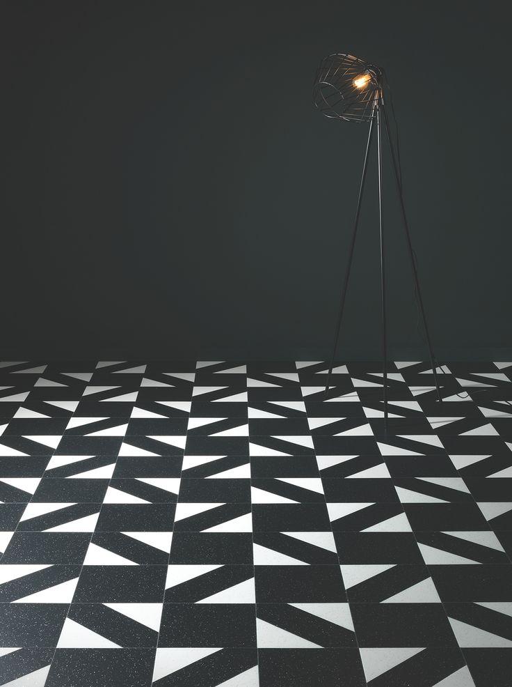 Geometric floor | barefootstyling.com