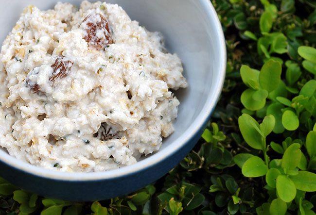 Coconutty summer porridge