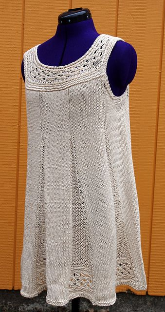 Ravelry: Fluted Tunic pattern by Meghan Jones - I'd love to try this fitted down to the waist and then floor length!