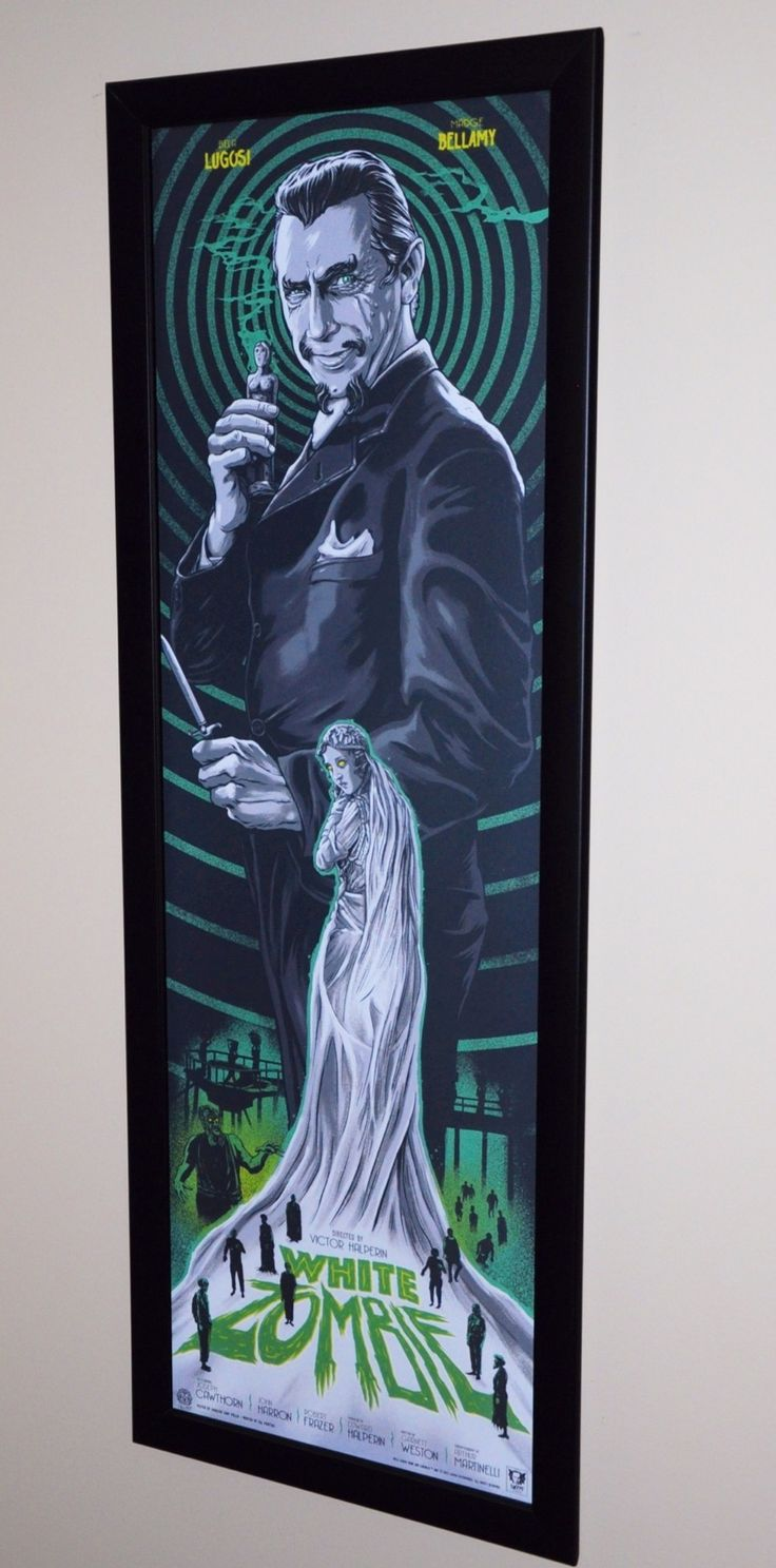 More Amazing working from @GhoulishGary the Green is Awesome!!!! White Zombie in one of our Standard Border Frames.