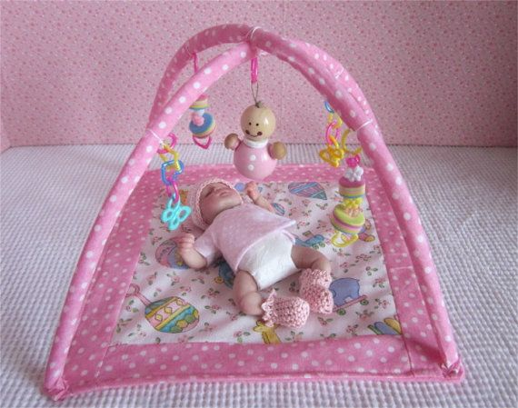 "Small Floor Baby Gym For OOAK  4""-6"" Size Baby Dolls,Toys"