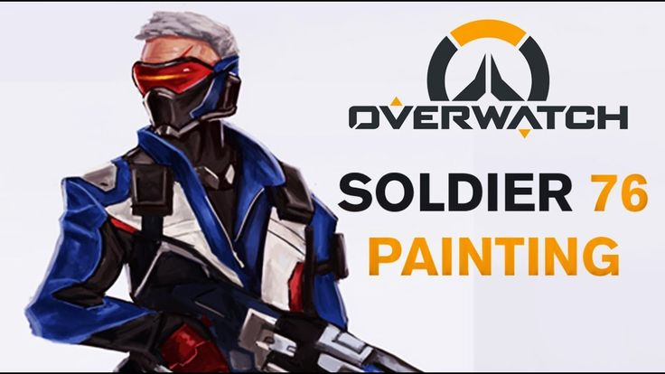 Soldier 76 from overwatch timelapse video by tomcii from tomcii com art