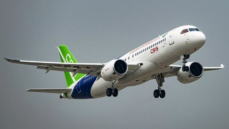 COMAC C919 - Chinese narrow-body twinjet airliner. History and future of...